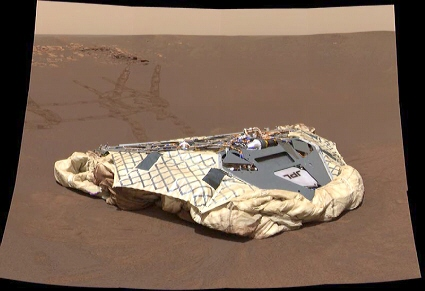Lander from the Opportunity Mars rover