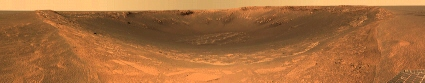 Mars Exploration Rover Opportunity image of Endurance crater