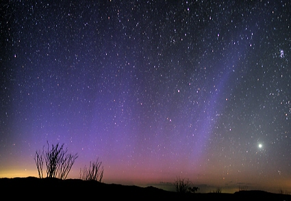 Aurora photographed from the California desert