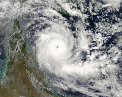 Aqua satellite MODIS instrument image of Cyclone Ingrid