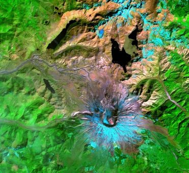 Terra satellite ASTER instrument view of Mount St. Helens
