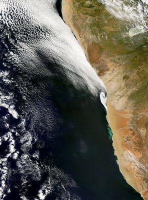 Terra satellite MODIS instrument image of Namibia