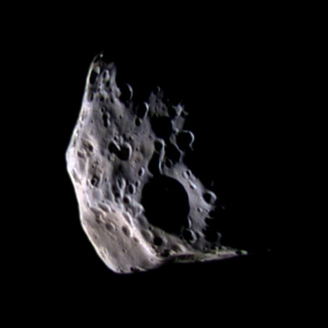 Cassini spacecraft image of Saturn's moon Epimetheus