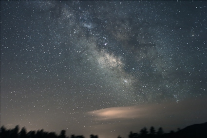 Digital astrophoto of the summer Milky Way