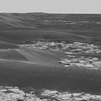 Photo of martian sand drifts from the Mars Exploration Rover Opportunity