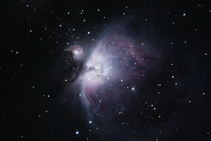 Image result for Orion nebula in natural light