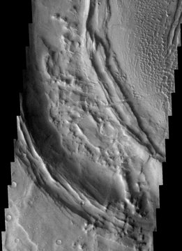 Mars Odyssey spacecraft image of the Nili Patera martian caldera