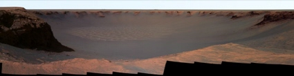 mars rover Opportunity image of Victoria Crater