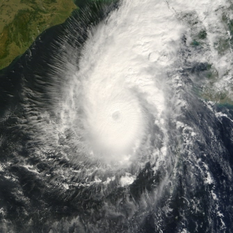 Terra satellite image of Tropical Cyclone Sidr