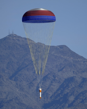 Ares booster parachute