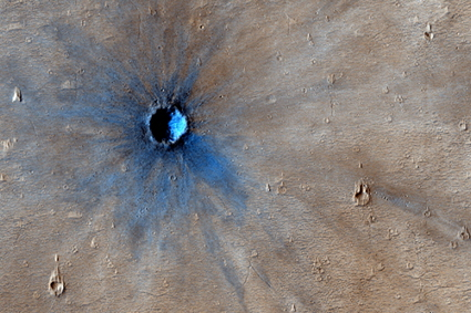 HiRISE image of fresh martian crater