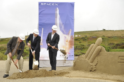 Falcon 9 groundbreaking at Vandenberg AFB