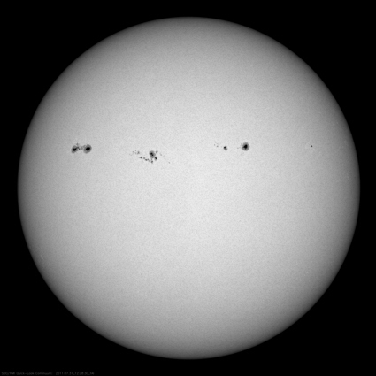 SDO spacecraft image of sunspots
