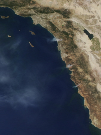 California and Baja California wildfires