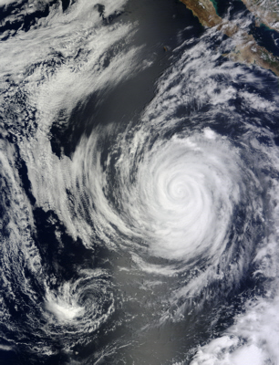 Terra spacecraft image of Hurricane Marie