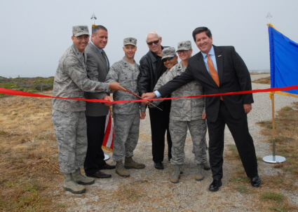 Pillar Point AFS ribbon cutting ceremony