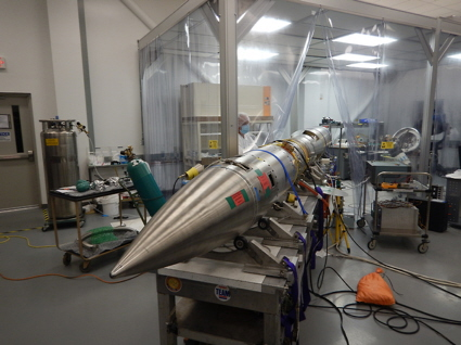NASA sounding rocket is prepared for flight
