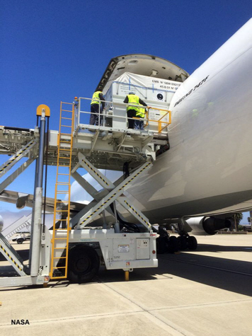 Jason-3 arrives at Vandenberg AFB