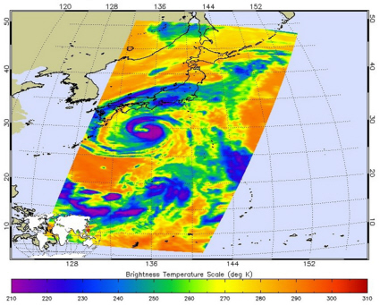 Aqua image of Typhoon Nangka