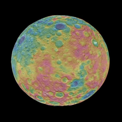 Topographic map of Ceres