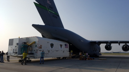 GPS III satellite arrives at Cape Canaveral