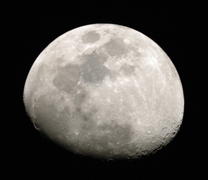 Image of the gibbous Moon