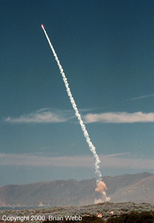 Photo of an OSPTLV missile launch