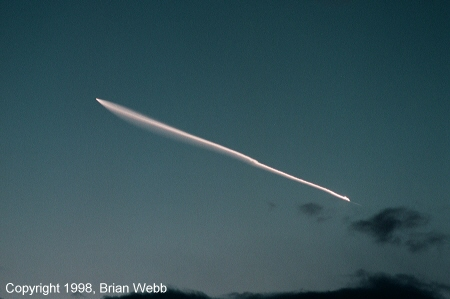 Pegasus XL rocket launch photo