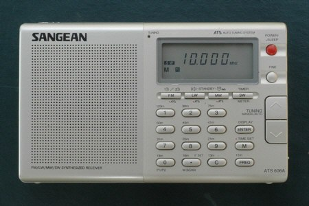 Photo of a shortwave radio reciver